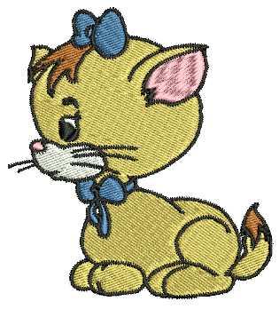 Stickmuster Katze
